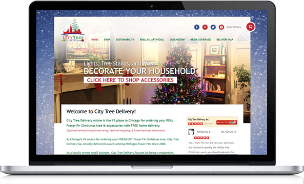 Virgo Web Design Portfolio - City Tree Delivery