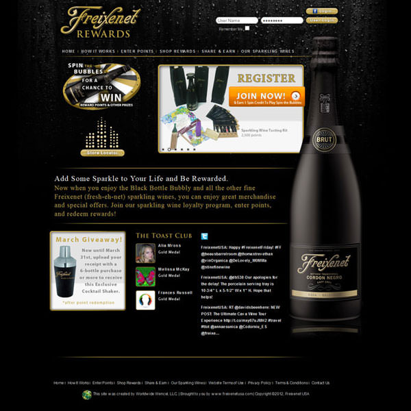 Virgo Web Design Portfolio - Freixenet Rewards