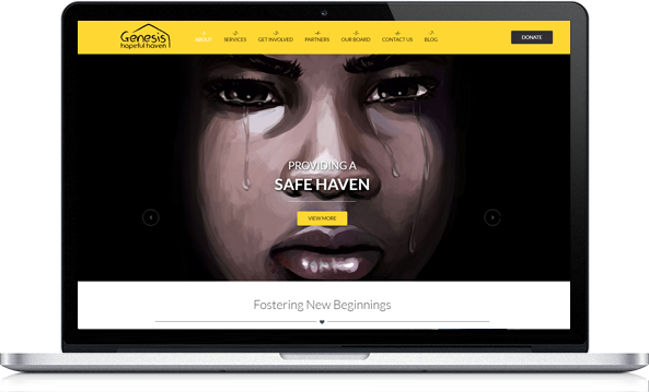Virgo Web Design Portfolio - Genesis Hopeful Haven