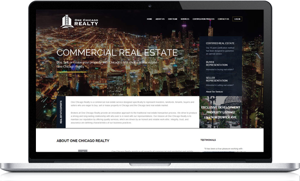 Virgo Web Design Portfolio - One Chicago Realty