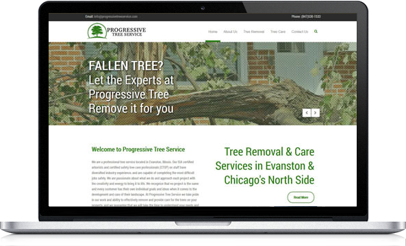 Virgo Web Design Portfolio -Progressive Tree Service